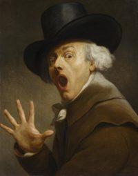 Self-portrait Le Surprise by Joseph Ducreux, ca. 1790. Photo courtesy the Nationalmuseum.