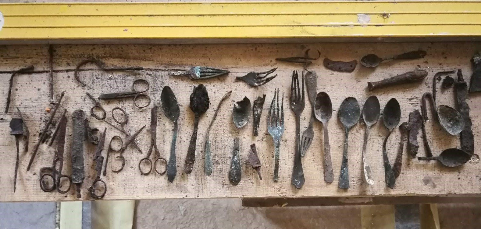 Tools hidden by prisoners found at Auschwitz
