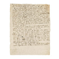 Newton manuscript, verso. Photo courtesy Bonhams.