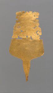 Gold ornamental plume or pin, ca. 200 B.C.–A.D. 400.  Photo courtesy the Metropolitan Museum of Art.