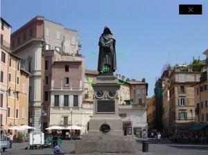 Take a picture of the Giordano Bruno statue in Campo de' Fiori...